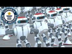 Massive robot dance - Guinness World Records Intelligent Technology, New Technology, Mobile Robot, Sport Earbuds, Guinness World, Gadgets And Gizmos, Recorded Books, World Records, Smart Technologies