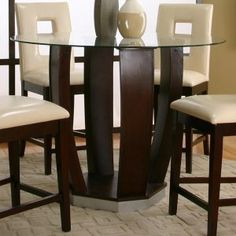 Round Glass Pub Table And Chairs