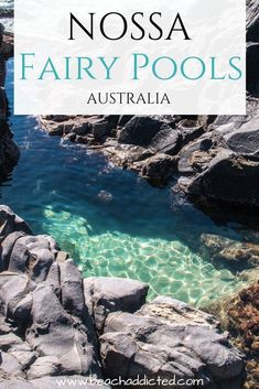 If you are at the Sunshine Coast in Queensland, you need to visit the National Park Noosa and the Fairy Pools Noosa.The Fairy Pools in Noosa National park are still an (almost) secret hidden gem. Sunshine Coast, Fairy Pools, Queensland Australien, Green Sand Beach, Couple Travel, Destinations, Valley Of The Kings, Destination Voyage, Island Tour