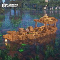 "25.6rb Suka, 128 Komentar - Goldrobin - Minecraft Builder (@xgoldrobin) di Instagram: ""A small boat, would you live on it? ⛵ Follow @xgoldrobin for more Minecraft Buildings ideas &…"" Minecraft Kunst, Château Minecraft, Construction Minecraft, Casa Medieval Minecraft, Minecraft Welten, Cute Minecraft Houses, Minecraft House Designs, Amazing Minecraft, Minecraft Tutorial"