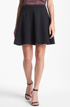 Flared Black Skirt  ShopStyle.com: Halogen Flared Ponte Skirt Black Large P $49.00