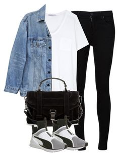 """""""Untitled #4191"""" by maddie1128 ❤ liked on Polyvore featuring Citizens of Humanity, T By Alexander Wang, Y/Project, Proenza Schouler and Puma"""
