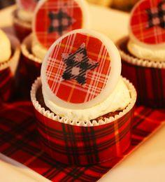 Plaid cupcakes by JeanneBenedict.com