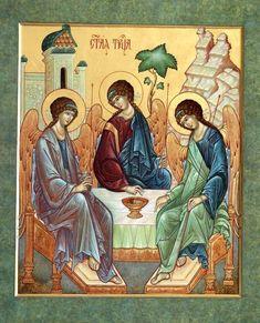 Old Testament, Orthodox Icons, Trinidad, Catholic, Christ, Angels, Inspired, Children, Painting