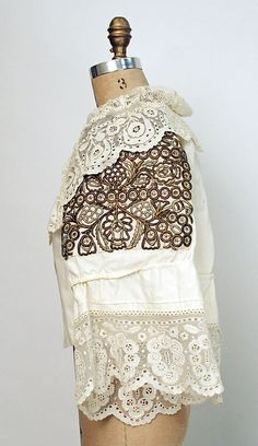 Blouse.  Date: 20th century. Culture: Slovak. Medium: cotton.