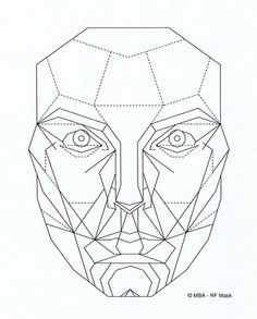 Explore collection of Geometric Face Drawing Mascara De Marquardt, Planes Of The Face, Geometric Face, Divine Proportion, Face Proportions, Face Template, Face Anatomy, Sacred Geometry, Figure Drawing