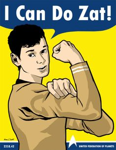 ADORABLE. Yes you can, buddy. Yes you can. #StarTrek #PavelChekov