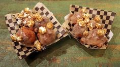 Caramel Peanut Butter Popcorn Donut Drops Recipe | The Chew - ABC.com. Zeppoli
