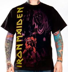 Iron Maiden, T-Shirt, Number Of The Beast  Monochrome