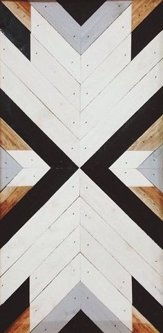 Main loft feature wall design!!  Colors: white, grey, black and turquoise wash.