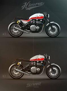 Kawasaki Zephyr 1100 Cafe Racer design by Himora #motorcyclesdesign #diseñodemotos   caferacerpasion.com