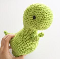 T Rex - Cute Crochet Dinosaur Plush Green Tyrannosaurus by CraftyOperation on Etsy