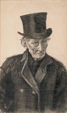 Vincent van Gogh (1853 – 1890), Old Man with Top Hat, 1882, Van Gogh Museum, Amsterdam (Vincent van Gogh Foundation)