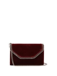 Click here to buy Stella McCartney Falabella velvet clutch at MATCHESFASHION.COM