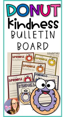 This donut kindness bulletin board is adorable and a great way to have your students explain ways to be kind! Kindness Bulletin Board, Bulletin Boards, Self Esteem Kids, Elementary Teacher, School Counseling, Fourth Grade, Second Grade, Teacher Resources, Language Arts