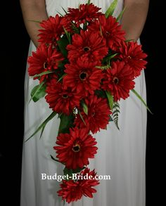 gerbera daisy bouquet..love.. just need brown and jade not red