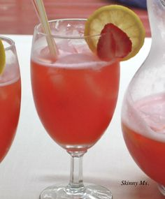 Strawberry Lemonade - There's nothing that beats homemade lemonade…except adding strawberries to the mix!