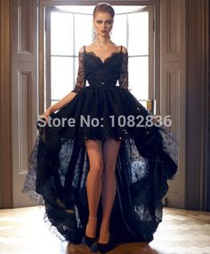 Find More Evening Dresses Information about Black Gowns High Low Half Sleeves 2015 Arabian Dresses Vintage Off the Shoulder Backless Floor Length Long Lace Evening Dress,High Quality dress advertising,China dress shirts for short men Suppliers, Cheap dresses evening from Cey Dai on Aliexpress.com