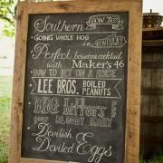 G&G Brunch at Keeneland | Garden and Gun. chalkboard by John Lanzador for OMC