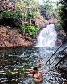 "59 Likes, 2 Comments - Anna (@reflectionsofanna) on Instagram: ""The best start to the holiday - spending the day swimming in waterfalls ‍♀️☀️#exploreNT #reflectionsofanna #blogger #travelblog #wanderlust #passportready #tourist #traveltheworld #travelwriter #postcardsfromtheworld #lifestyle #followher #instagood #adventure #travelbug #explore #like"