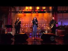 """Letterman Show performance of """"I Ain't Easy to Love"""" with Candi Staton, Jason Isbell & the Swampers from the Documentary Movie: Muscle Shoals - ▶ Muscle Shoals Letterman - YouTube #Relationships #LoveThis - George 01.09.15"""
