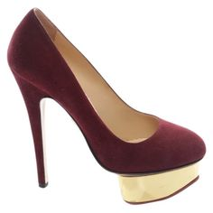 Heels Charlotte Olympia Red size 35.5 EU in Suede - 9178693 Red Heels, Shoes Heels, Pumps, Charlotte Olympia, Luxury Consignment, Suede Leather, Peep Toe, Stuff To Buy, Women