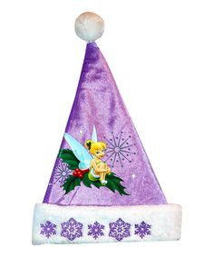 Tinkerbell Embroidered Santa Hat