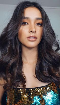 Liza Soberano (Philippines/US) Gorgeous Makeup, Pretty Makeup, Makeup Looks, Beautiful Long Hair, Stunningly Beautiful, Liza Soberano Photoshoot, Nude Makeup, Hair Makeup, Lisa Soberano