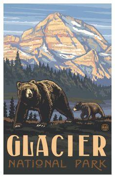 Glacier National Park Poster by Paul Lanquist - casa.com