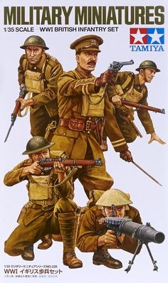 OHS Tamiya 35339 WWI British Infantry Set Assembly Military Miniatures Model Building Kits