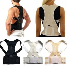 Stand a little taller and with confidence wearing this posture corrector therapy back brace. Supporting all the right areas to align your neck and spine, this back brace helps train your posture to maintain its upright position. This back brace . Good Posture, Improve Posture, Back Support Pillow, Flat Tummy Workout, Posture Corrector, Neck Pain, Whats New, Workout Challenge, Braces