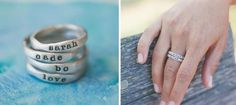 Personalized Stacking Rings by Lisa Leonard!  The perfect gift for mom... custom made & full of meaning