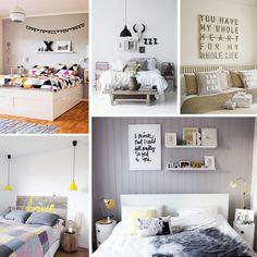 disposição quadros na cabeceira cama casal - Pesquisa Google