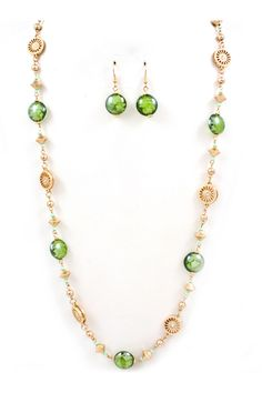 Murano Glass Collin Necklace in Kelly on Emma Stine Limited