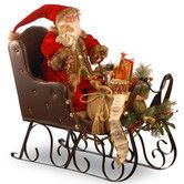 Found it at Wayfair - Plush Sleigh with Santa