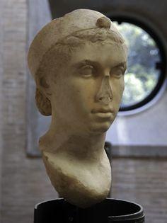 Portrait of Cleopatra VII (?). Rome, Vatican Museums, Gregorian Profane Museum (Musei Vaticani, Museo gregoriano profano)