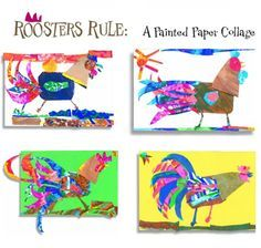 """""""Roosters Rule: A Painted Paper Collage,"""" from our October 2011 issue."""