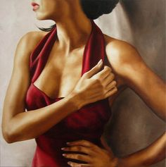 Woman Art Painting By Annick Bouvattier – Scent of a woman – 04 | Designalmic
