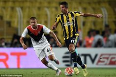 Van Persie came off the bench in the 68th minute but couldn't mark his debut with the winn...