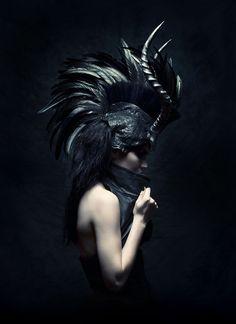 Dance magick dance: feather and horn headdress