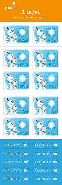 lumiukot postimerkit