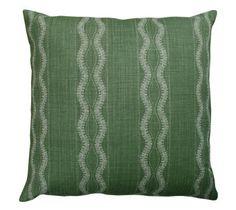 Peter Dunham Textiles Zanzibar Green Pillow