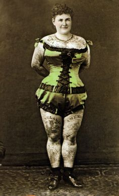 Emma de Burgh c. 1880's tatoo lady
