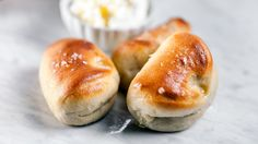 I just discovered this amazing recipe Parker House Rolls on Panna by Chef Hugh Acheson!