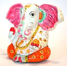 Statue Ganesha Ganesh God Hindu Elephant Figurine Lord Metal Home Ganpati Decorator  ADORABLE