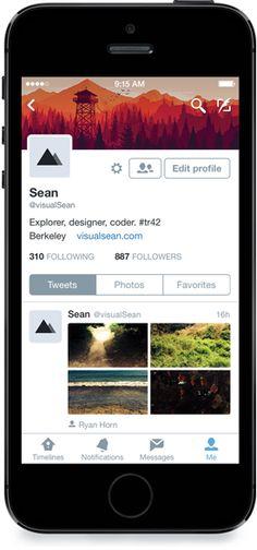 Twitter for iPhone: 新しいプロフィールページにしました | Twitter Blogs