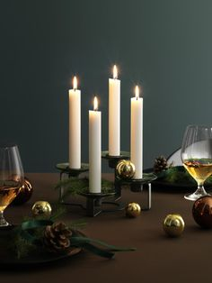 Lumi Candleholder from Holmegaard for Autumn, Winter and Christmastime