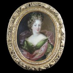 Believed to be a rare portrait of the duchesse de Fontanges (1661-1681) for which she posed in person, by the entourage of François De Troy (1645-1730)