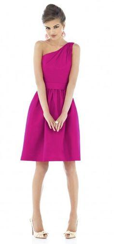 alfred sung pink bridesmaid dress