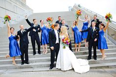 We think our outdoor staircase is the perfect spot for bridal party photos! Photo by Jessica Strickland Photography. Wedding Pics, Wedding Ideas, Indiana State, Grand Staircase, Grand Entrance, Party Photos, Picture Ideas, Your Photos, Don't Forget